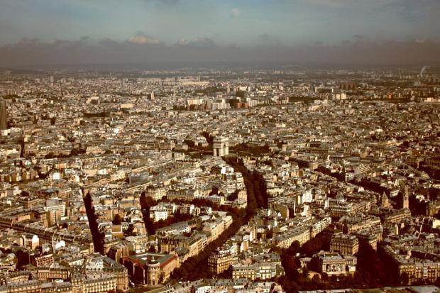 Paryż, widok z wieży Eiffla #architektura #krajobraz #miasto