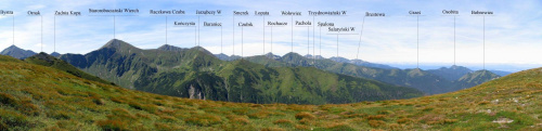 Panorama z Ornaku #Góry #Tatry #StarorobociańskiWierch
