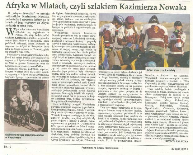 Kazimierz Nowak, podróżnik