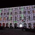 Mapping,czyli świetlna prezentacja na budynku,jedna z atrakcji festiwalu światła..tu ekranem jest uzdrowiskowy pawilon Lalka :) #Cieplice #FestiwalŚwiatła #JeleniaGóra #zima
