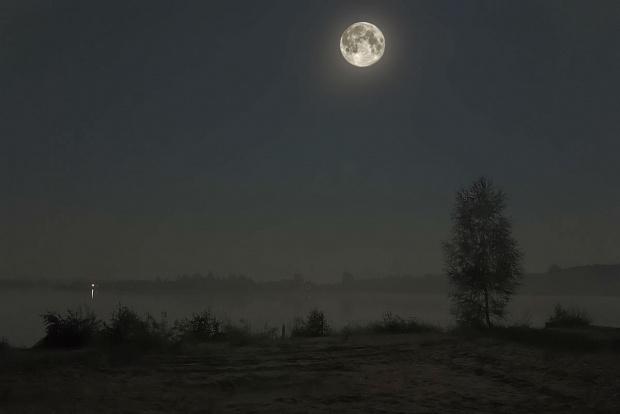 Pejzaż nocny #pejzaż #PoraDnia
