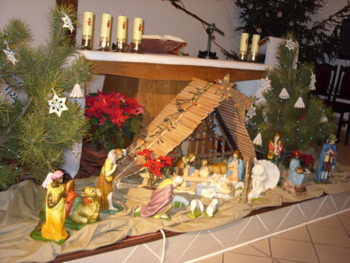 R. Kaczmarek - Sokolniki Wielkie 2011; Boże Narodzenie; Szopka w Kaplicy sióstr Urszulanek SJK.