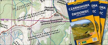 Mapa Czarnohora