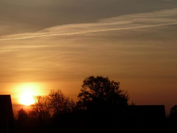 zachod #jesien #slonce #niebo