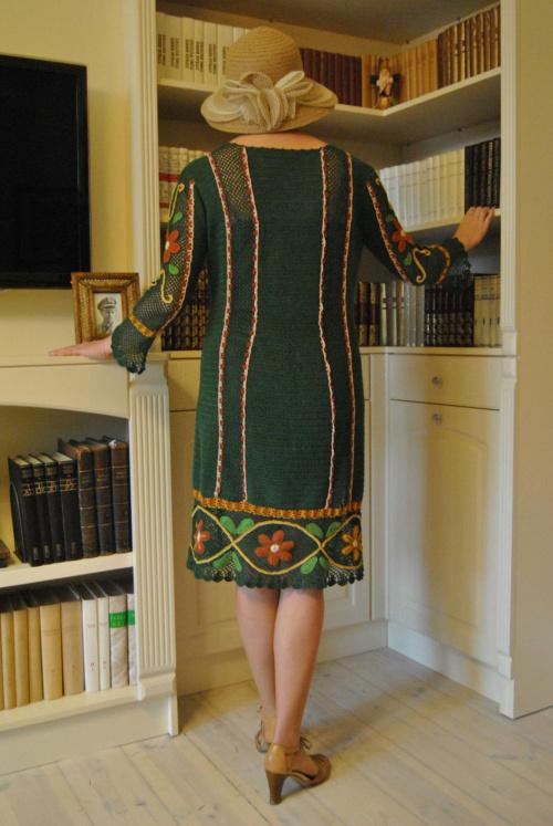 tył sukienki #druty #haft #robótki #szydełko