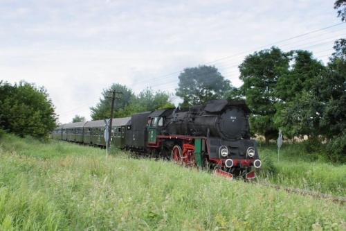 parowóz OL 49, trasa Poznań - Wolsztyn, okolice Szreniawy, 21.07.2009 #kolej #kolejnictwo #lokomotywa #lokomotywy #Ol49 #parowozy #parowóz #PKP #pociąg #PojazdySzynowe #Szreniawa #Train #Eisenbahn #Zug #Dampflok #Dampfeisenbahn