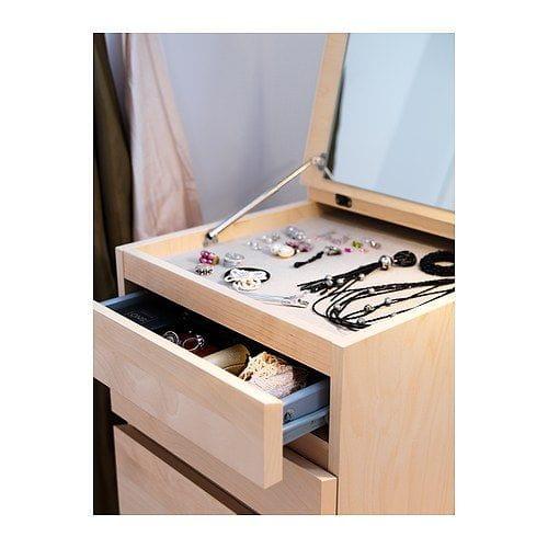 Ikea komoda szafka toaletka malm 6 szuflad lustro - Espejo tocador ikea ...
