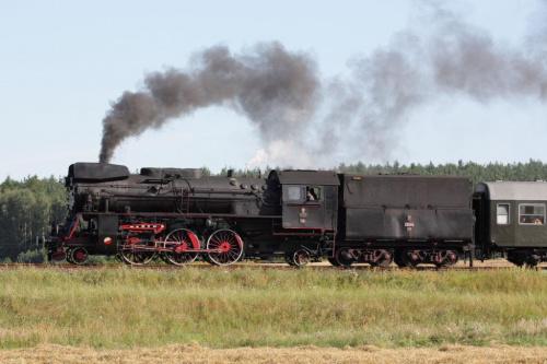 parowóz OL 49 59, trasa Poznań - Wolsztyn, okolice Szreniawy, 01.08.2009 #kolej #kolejnictwo #lokomotywa #lokomotywy #OL49 #parowozy #parowóz #PKP #pociąg #PojazdySzynowe #Szreniawa #Train #Eisenbahn #Zug #Dampflok #Dampfeisenbahn #Ol4959