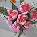 krokusy wykonane z krepiny. #artystyczne #bibułkarstwo #bukiety #dekoracje #kartki #komunia #krepina #kwiaty #NaStół #okolicznościowe #NaKażdąOkazję #piękne #oryginalne #prezenty #rękodzieło #upominki