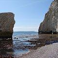 Erozja wapienia. #Anglia #klif #BiałeSkały #Dorset #widok #morze #plaża