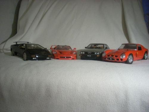 #AlfaRomeo #AlfettaGTV #AutoArt #Bburago #Ferrari250GTO #FerrariF50 #LamborghiniDiablo #modele