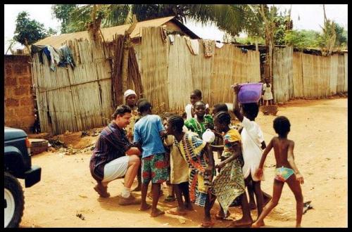 Afryka / Benin / okolice Cotonu #Afryka #wioska #tubylcy #dzieci #busz #dzicz #benin #cotonu #safari