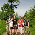 Praktyki terenowe z kartografii i topografii ćwiczenie z GPS zejśćie z Wielkiej Sowy #rzeczka #góry #GórySowie #niebo #las #przyroda #krajobraz