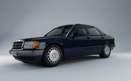 Mercedes W201 Render #Mercedes #W201 #model #Render #grafika