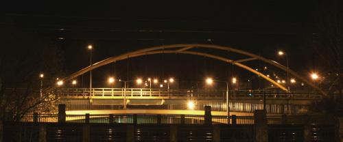 Węzeł Franciszki Cegielskie w Gdyni nocą #FranciszkaCegielskaGdyniaMl2200