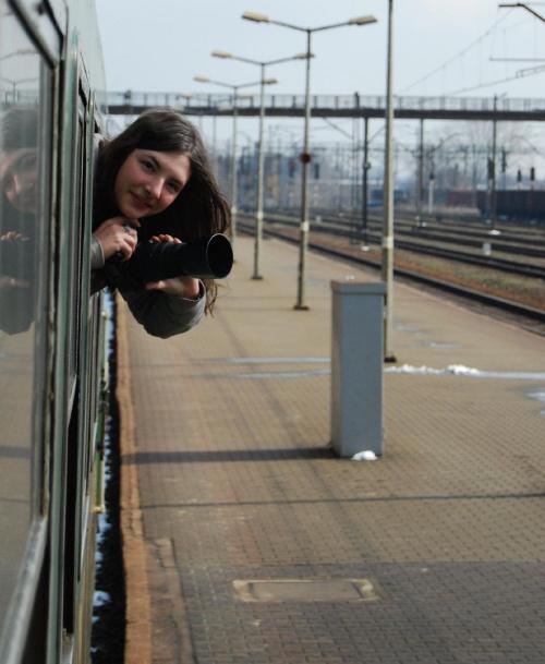 Moja osobista pani trener od Fotografii :D Schneeflocke #pociąg #schneeflocke #zamość